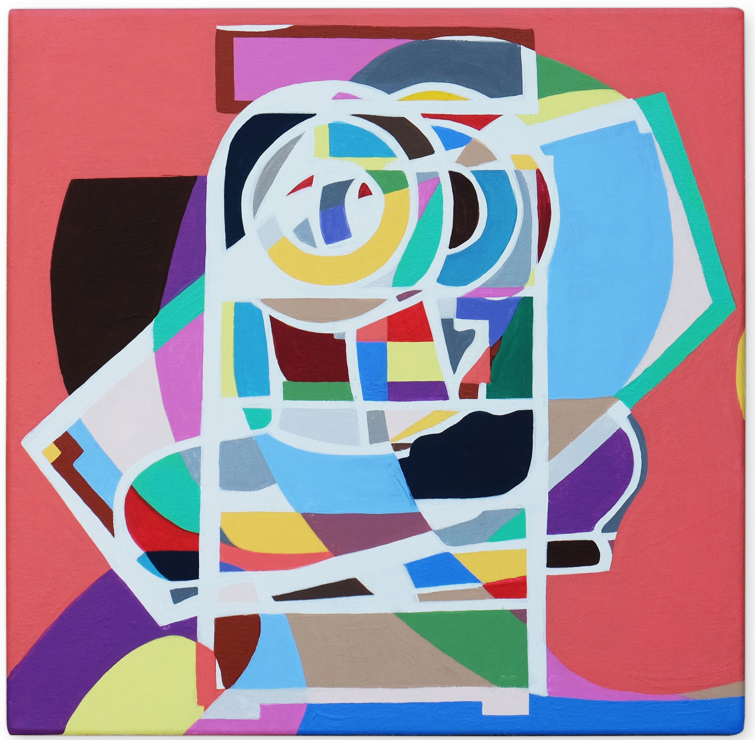 After Image 2 , 2017 | Acrylic on linen, 305 x 305mm,  Private Collection