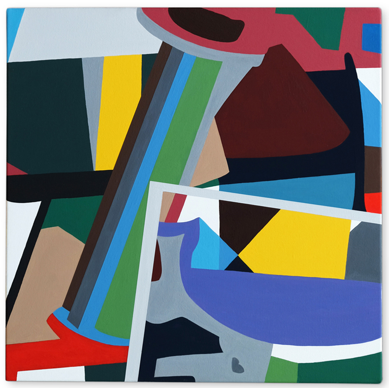 Imaginary Landscape No 14 , 2016 | Acrylic on linen, 450 x 450mm,  Private Collection