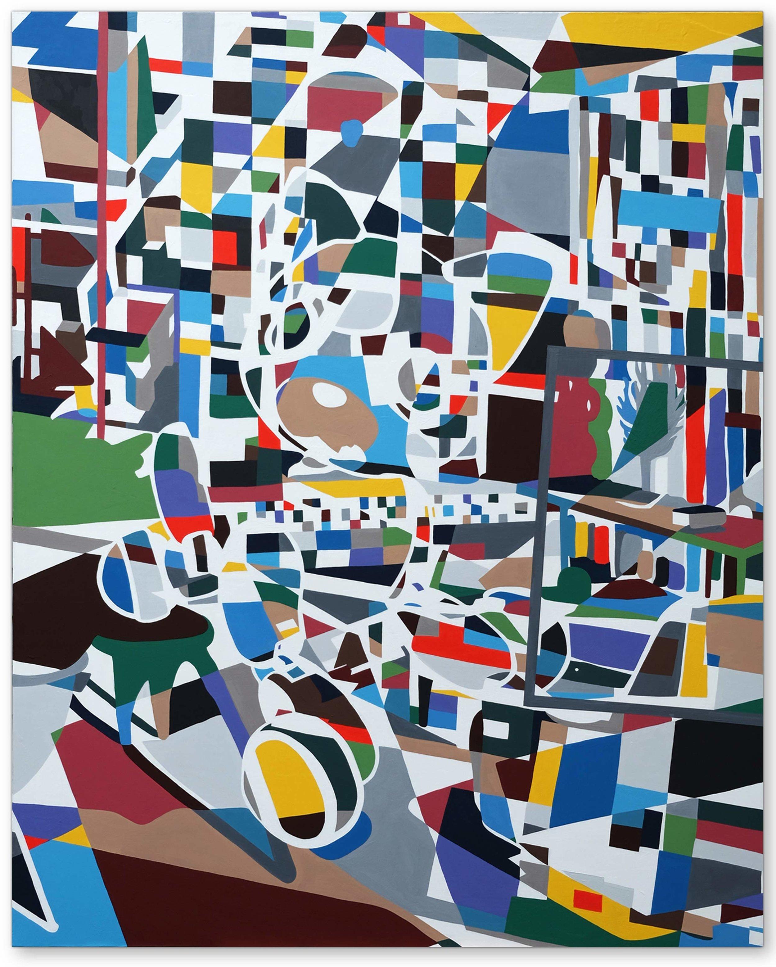 Imaginary Landscape No 16,  2016 | Acrylic on canvas, 1524 x 1220mm