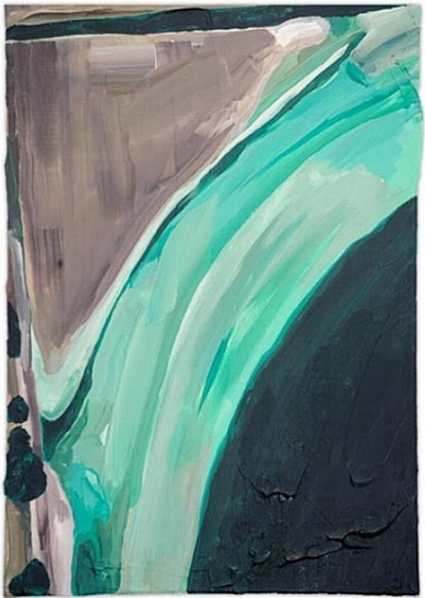 The Fall,   2008 | Acrylic on linen, 500 x 350mm