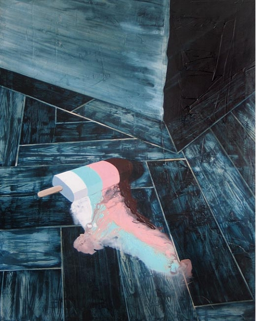 Ghost Ship,   2007   Acrylic medium on canvas, 1160 x 860mm