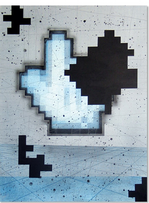 Time Pilot   2005   Acrylic on canvas, 1160 x 860mm