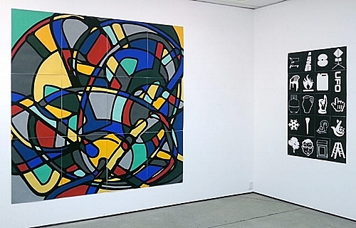 Works on Paper, North Art Gallery, Auckland 2014. From left:  Collider II ,  D.I.Y 2010