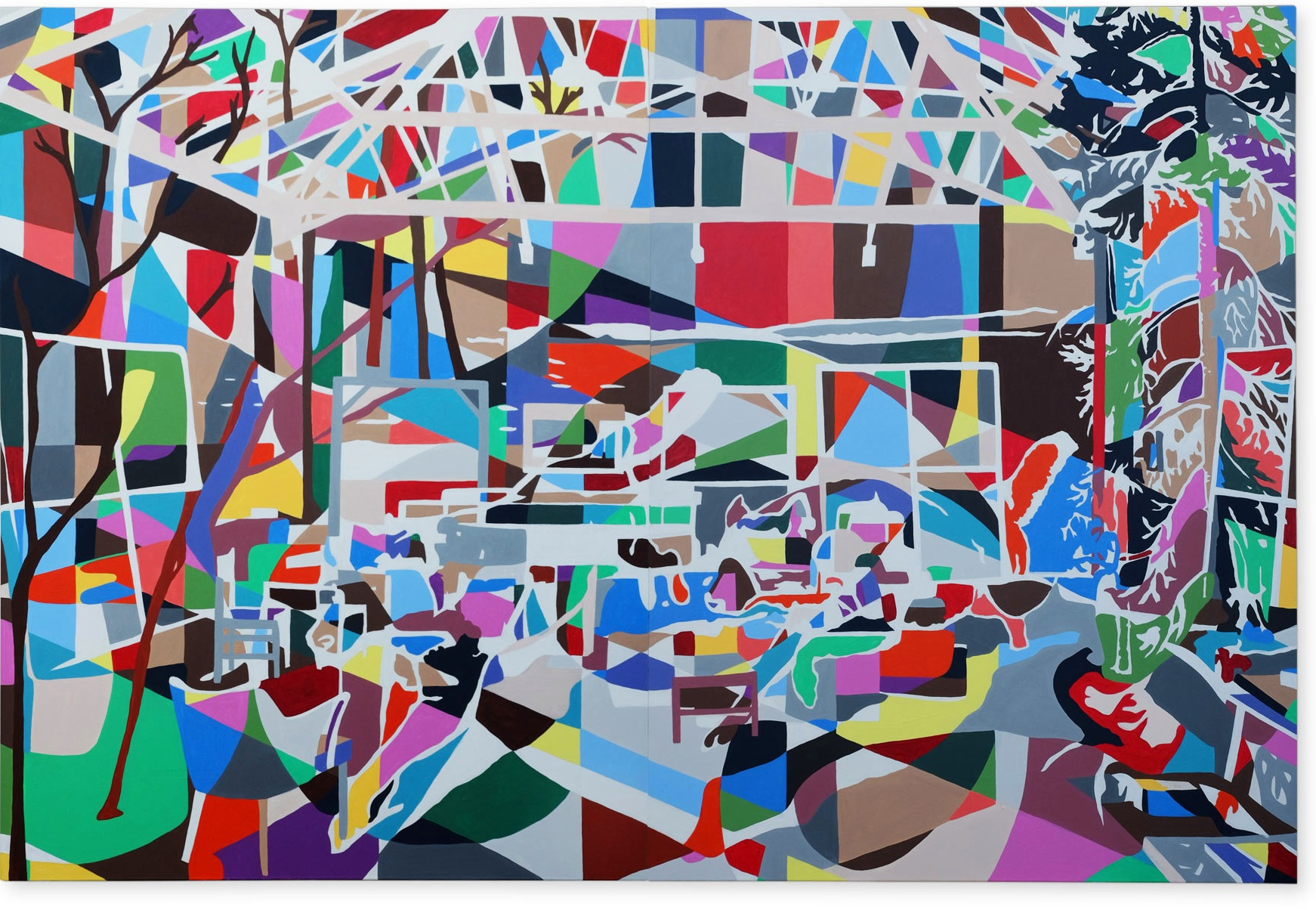 All Tomorrows Parties , 2018   Acrylic on canvas, 1520 x 2000mm  Finalist - Wallace Art Awards