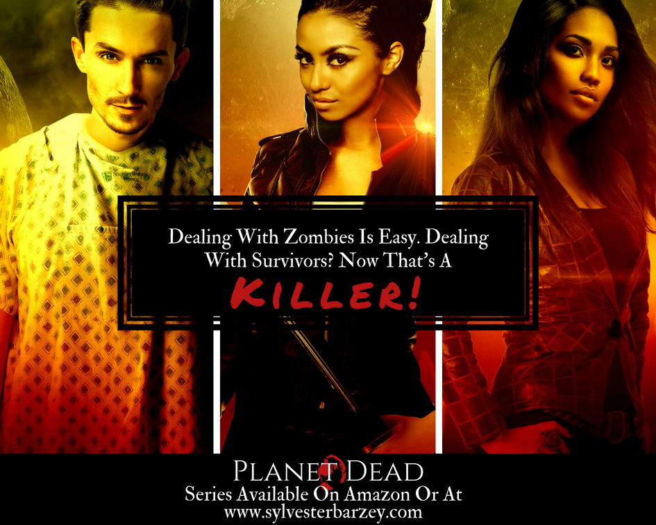 Journey into the world of zombies, crooked government, and family in Planet Dead. Click image for more info.