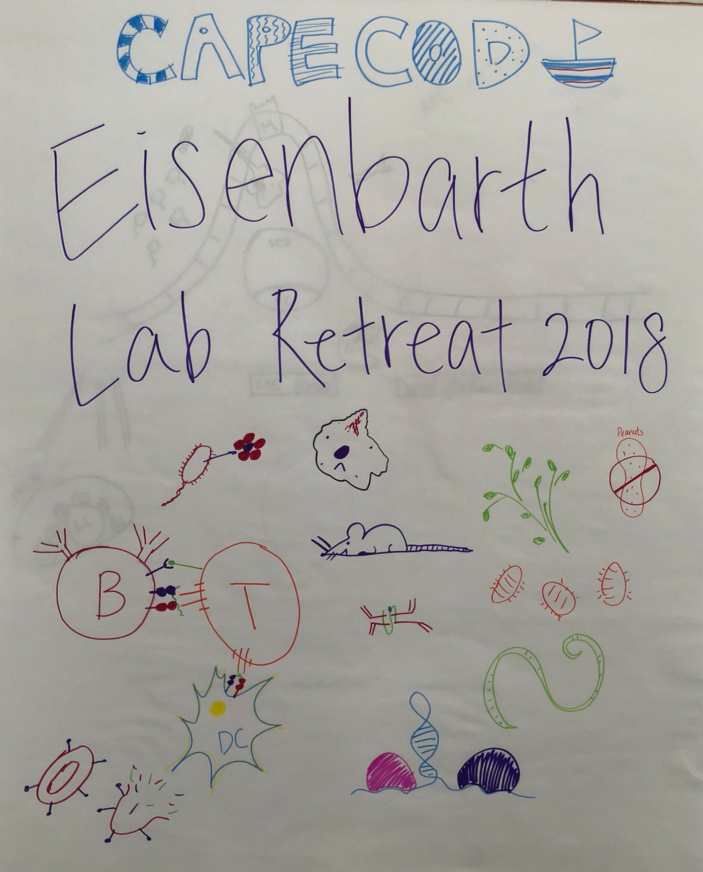 A fun drawing from the Eisenbarth Lab Retreat (2018).