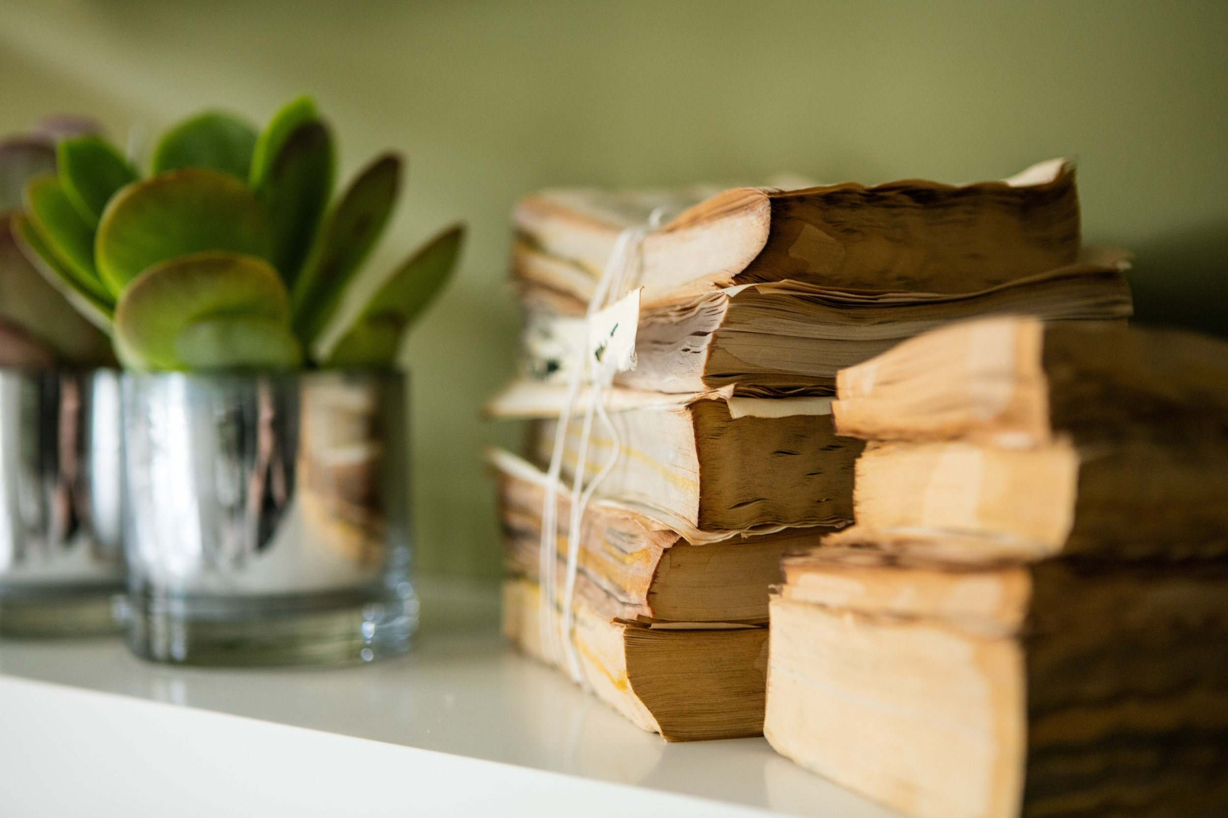 Aged looking books can be created by putting old books in the oven after dousing them in tea.