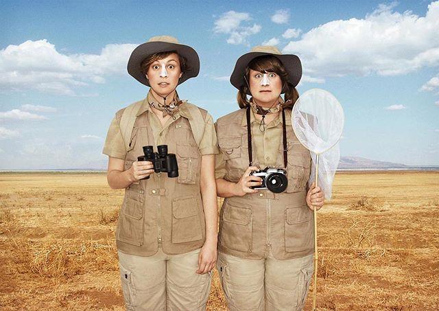👭 The Tourists 🦋📷 ⠀ ⠀ ⠀ ⠀ #portraits #environmentalportraiture #createinspire #tourists #safari #postcards #vacation