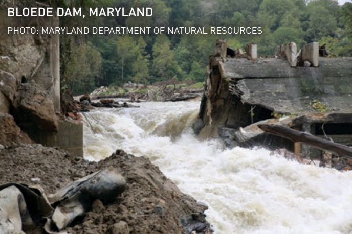 The first steps in removing the Bloede Dam on Maryland's Patapsco River