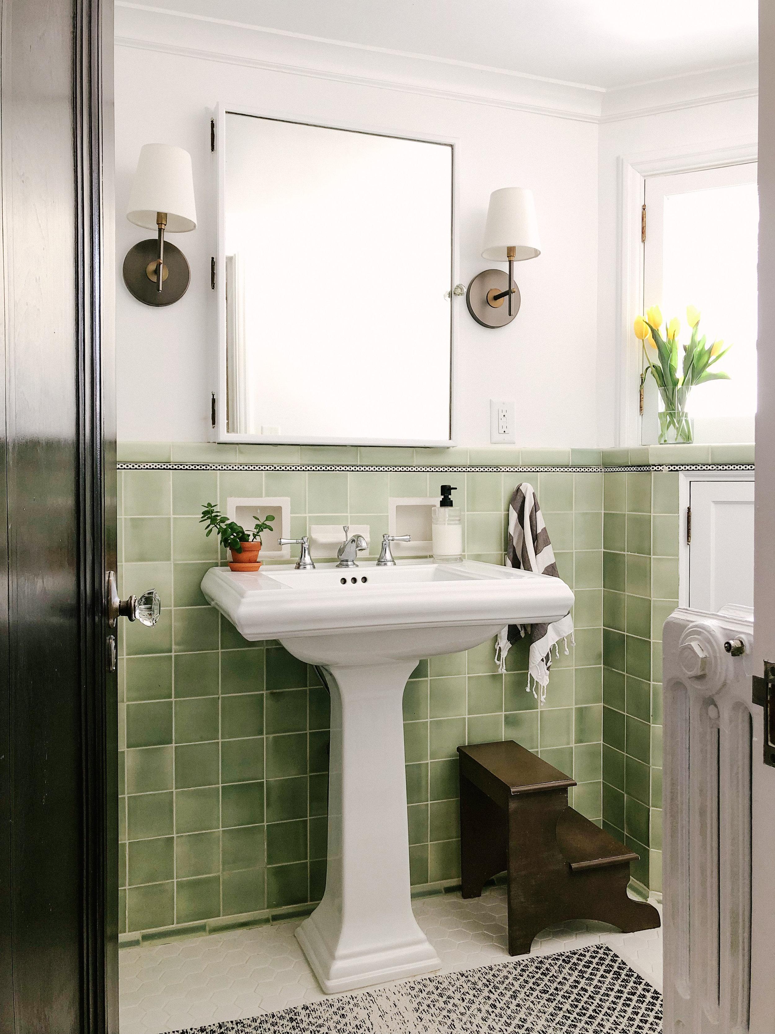 Vintage Green Bathroom Patticake Wagner