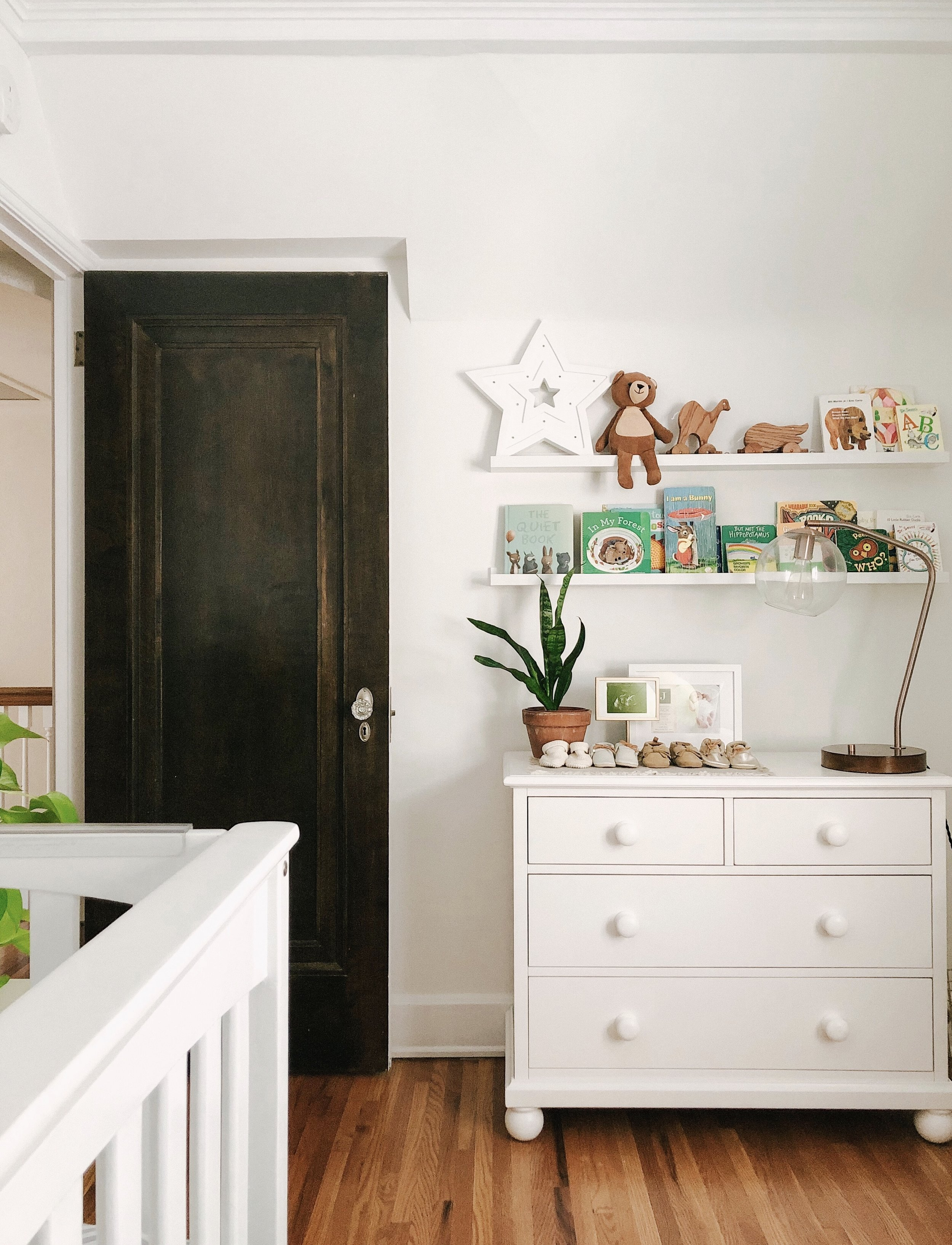 dresser  here  | picture/book ledge  here