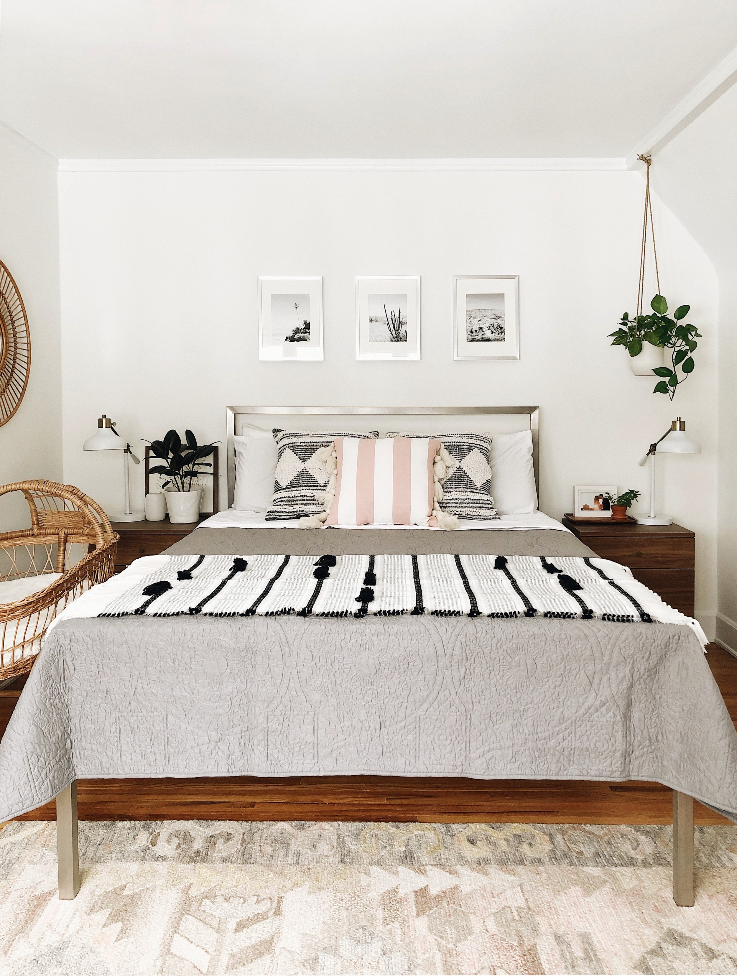similar bed frame for less  here    rug  here