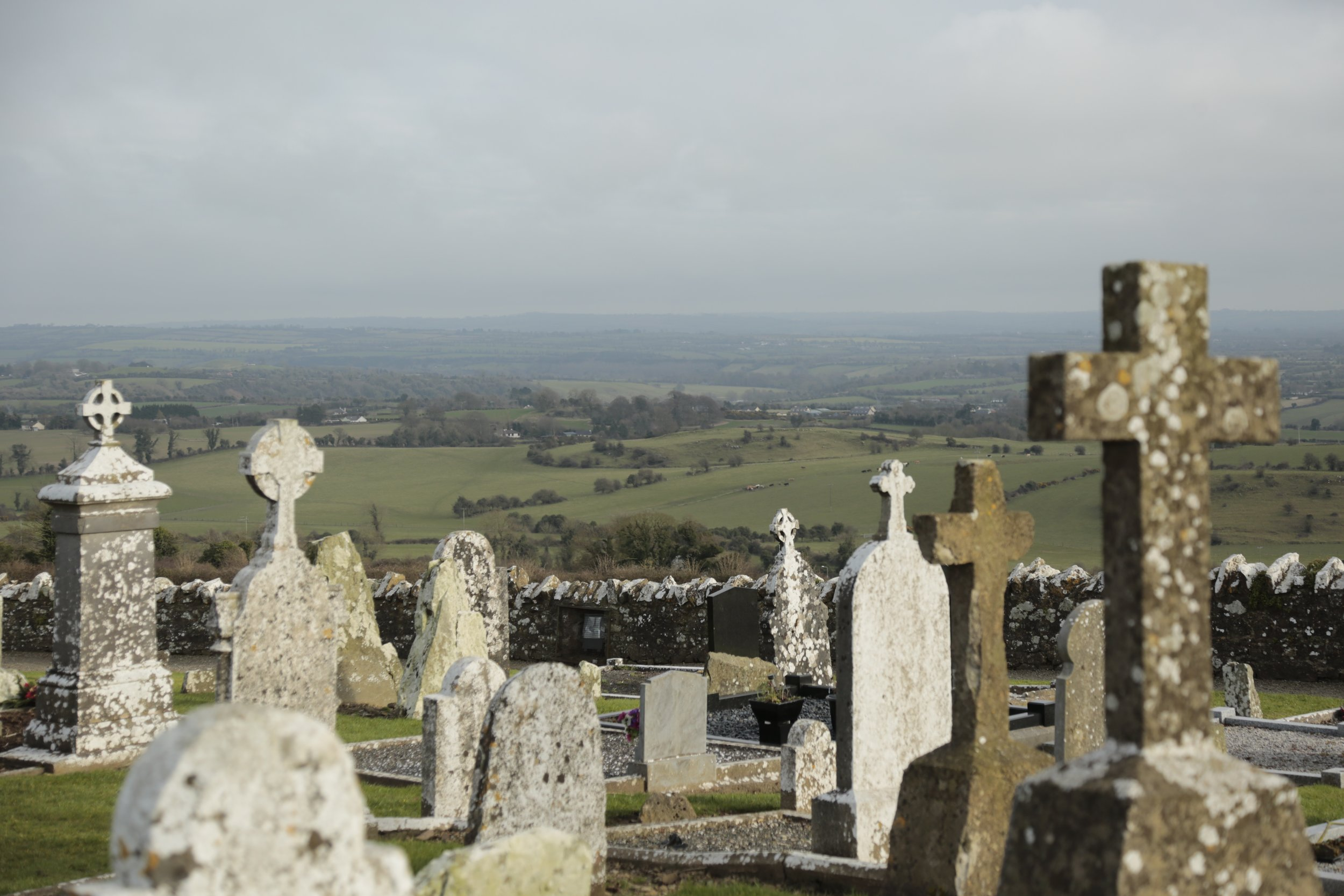 Ancient Burial Grounds - Danny's Grandfather and Great Grandmother are laid to rest at St. Patrick's Church cemetery on the Hill of Tara.