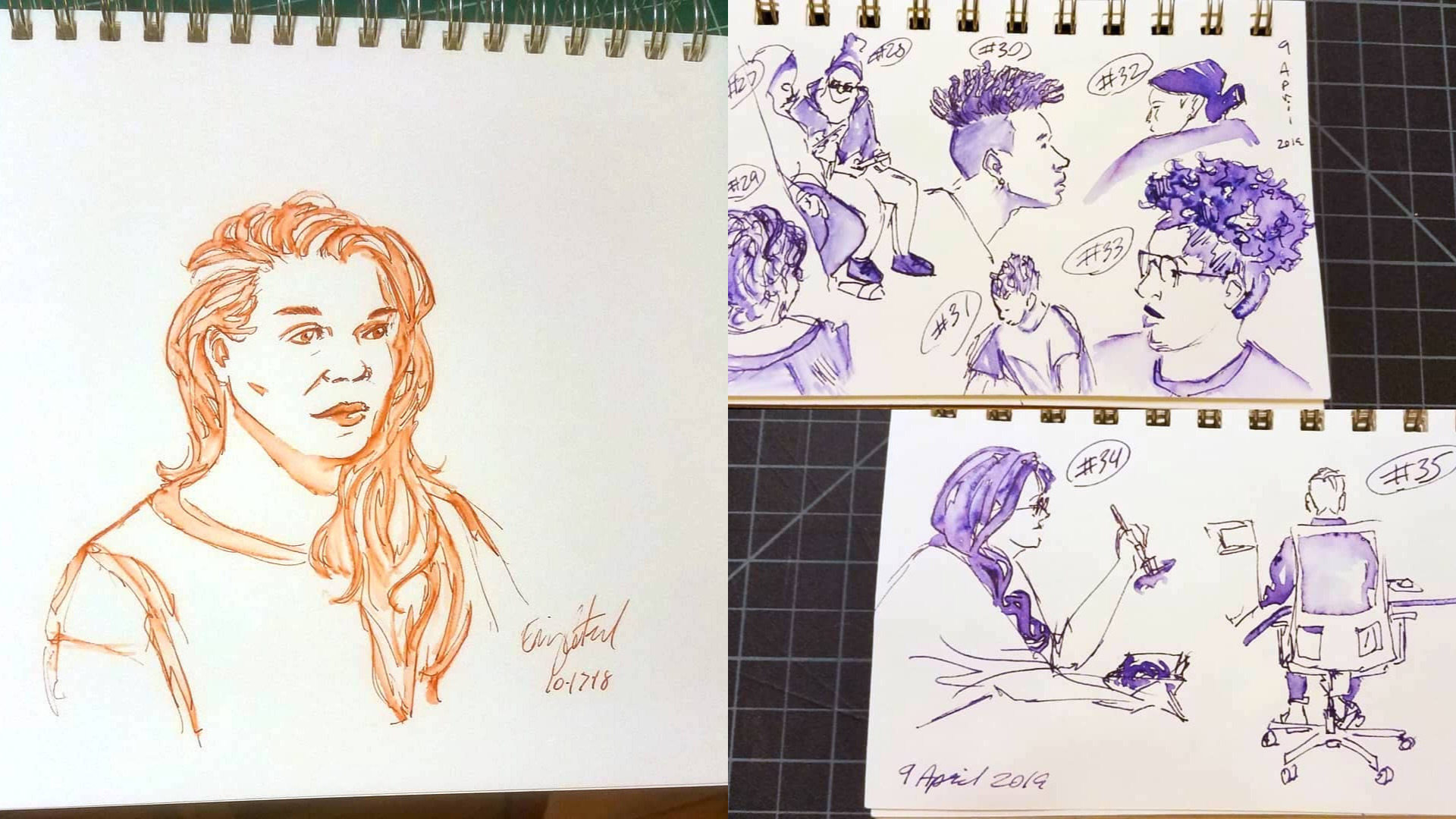 Sketching People with Fountain Pen - Sunday, August 25, 1–4 PM / Instructor: Emmett Catedral