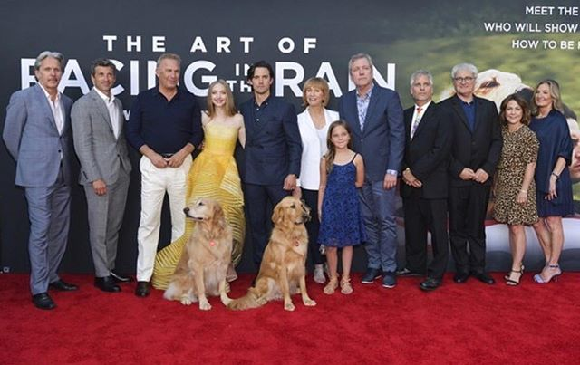 Great cast!! THE ART OF RACING IN THE RAIN. FANTASTIC FAMILY MOVIE!! Kevin Costner is voiceover of the dog - he is brilliant as always. A must see movie, out August 9th.