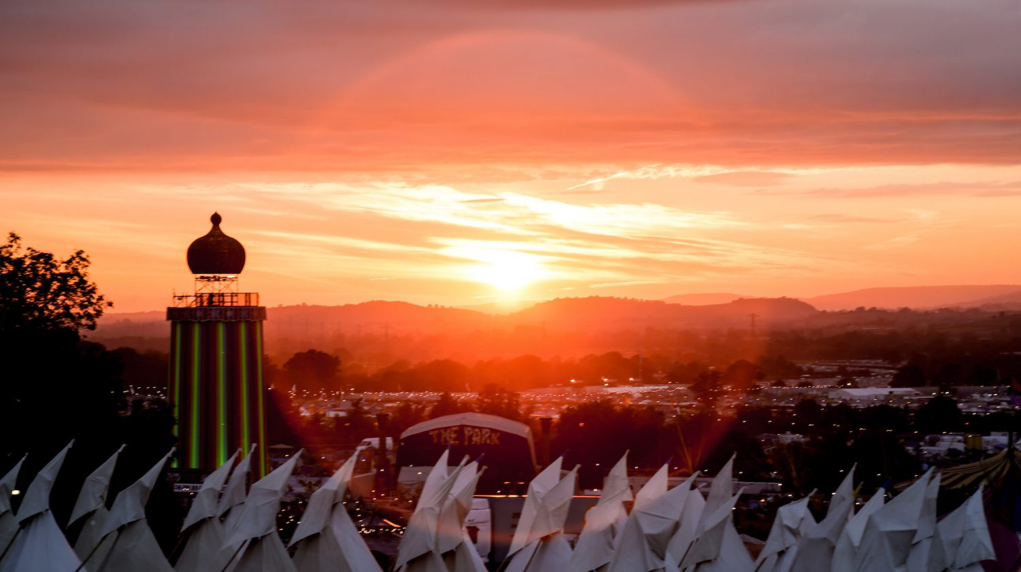 Sunset over the Park stage.