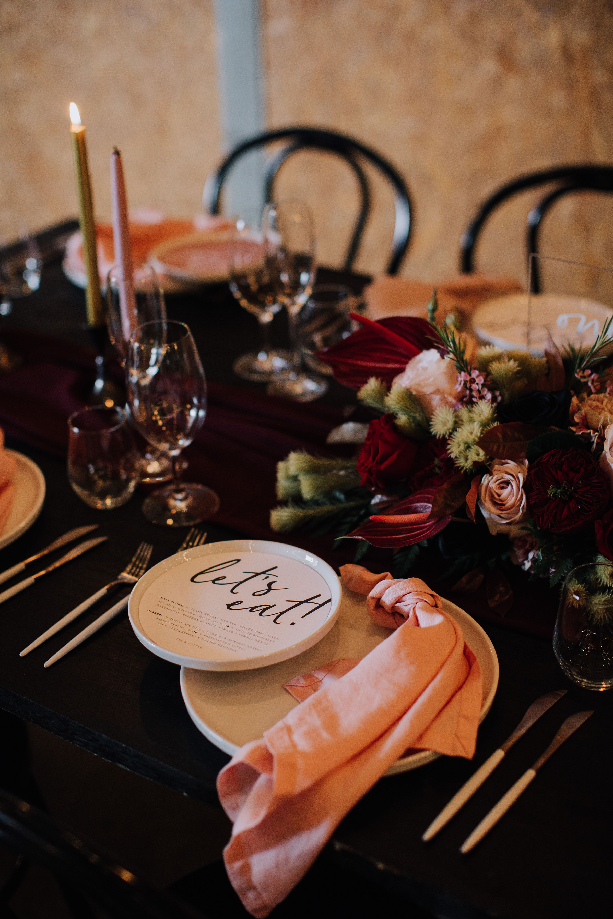 'Always' Round Menu - Photo by   Paris Hawken   (see   here   for full list of suppliers)