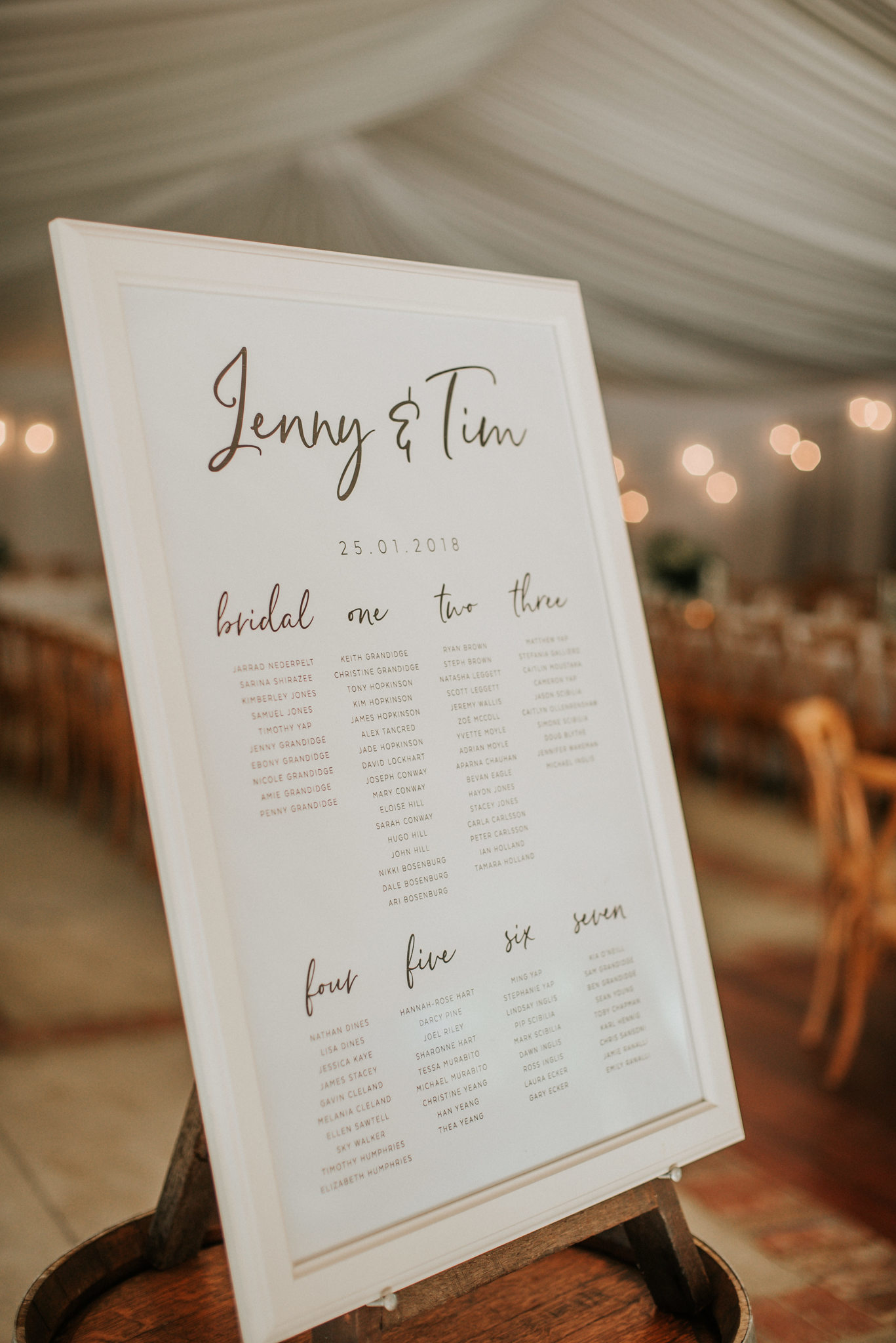 'Always' Seating Chart - Photo by   Shannon Stent