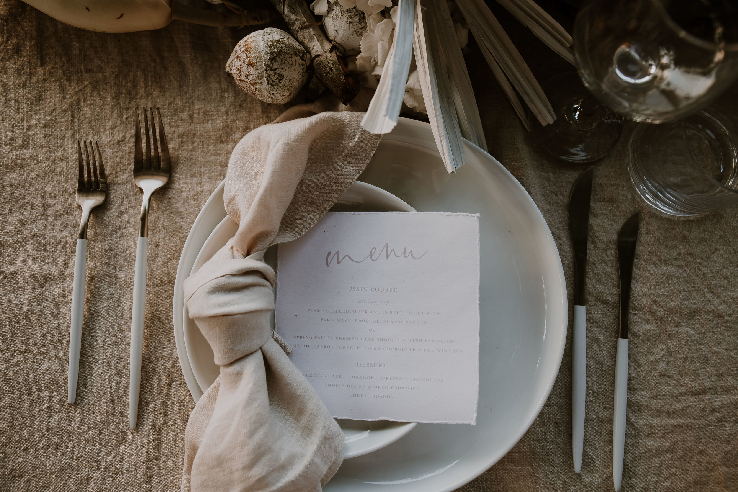 'Santorini' Square Menu - Photo by   Jessica Liebregts     (see   here   for full list of suppliers)