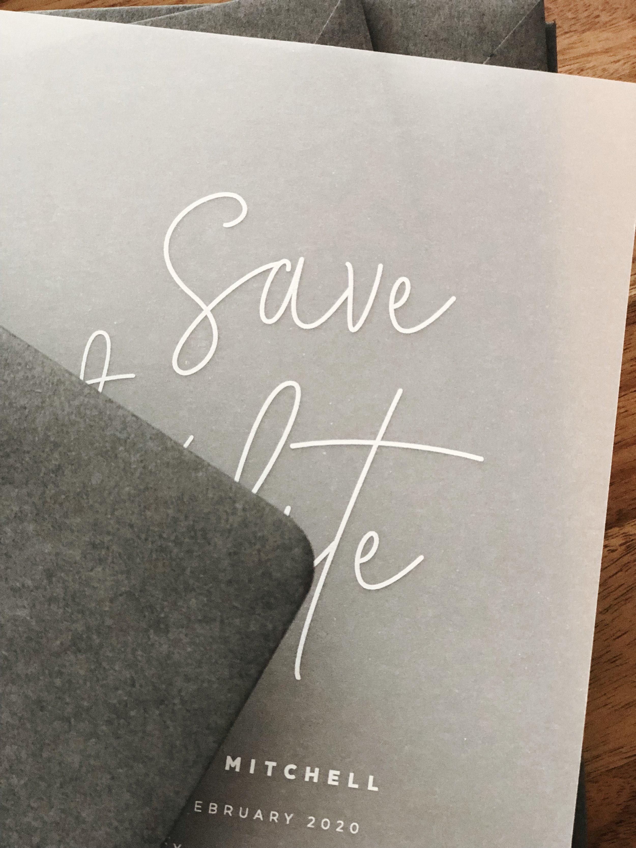 'Ever After' - Save the Date, White ink on Vellum