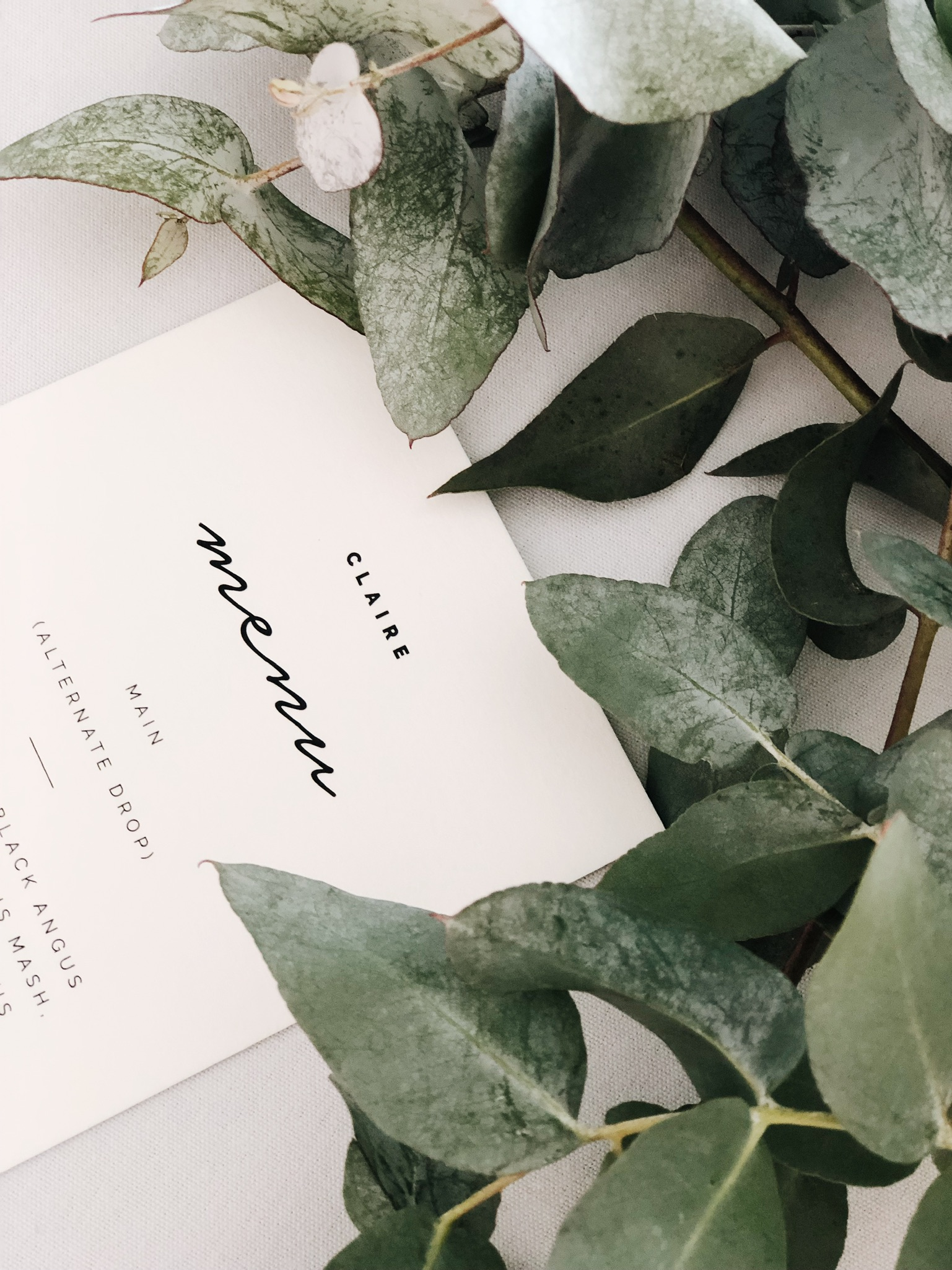 Reception - Menus // Place Cards // Seating Charts // Table Numbers