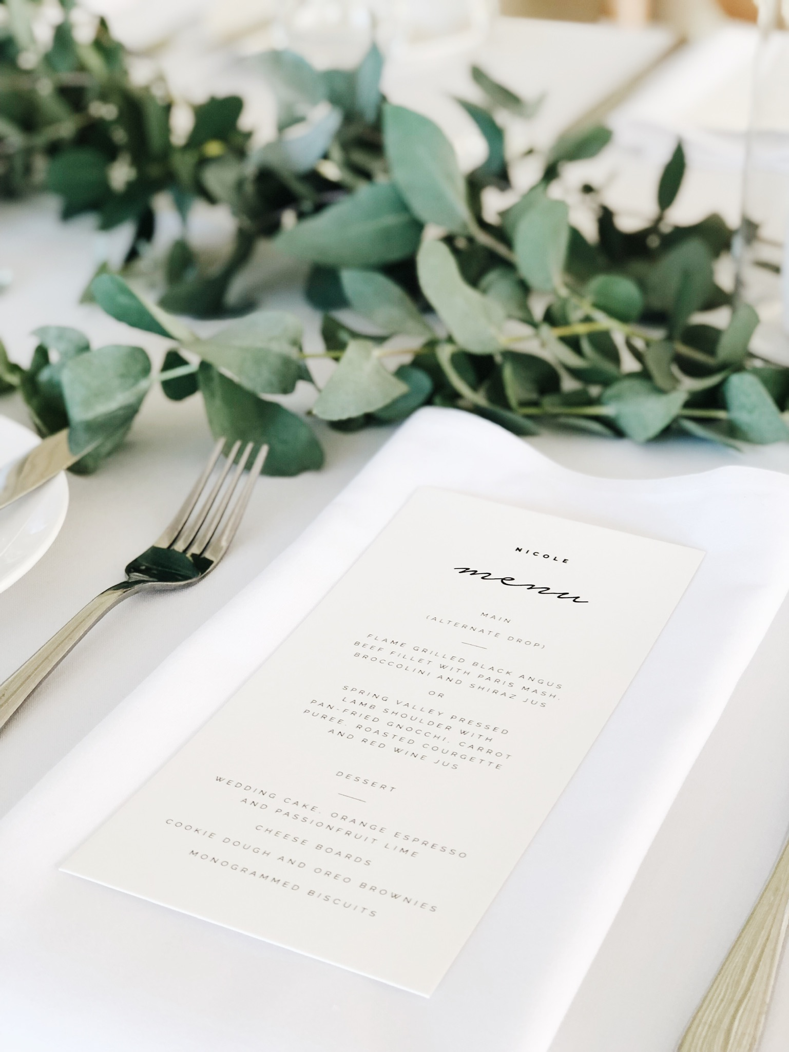 Reception Stationery -