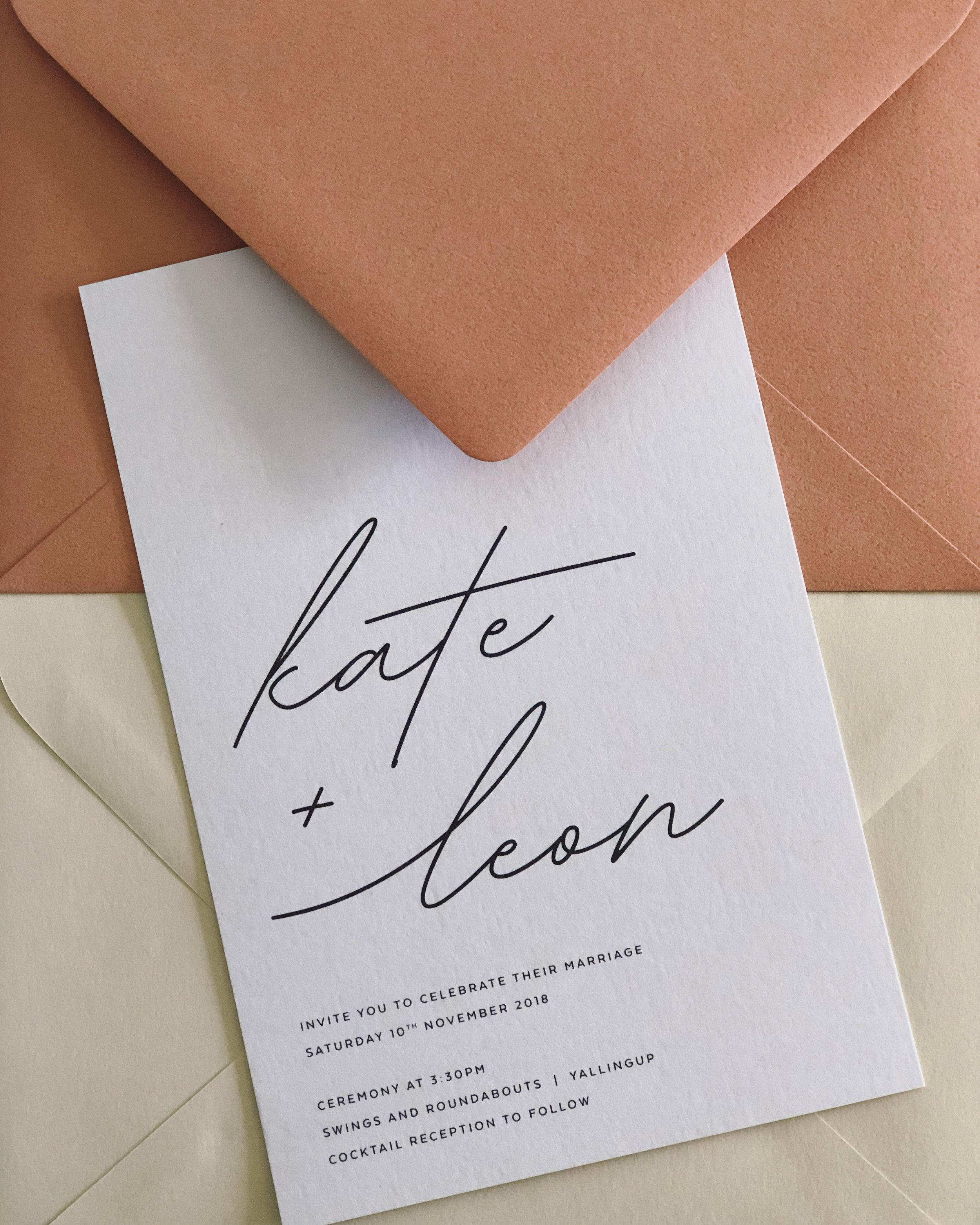 'Something New' - With Terracotta & Almond Envelopes