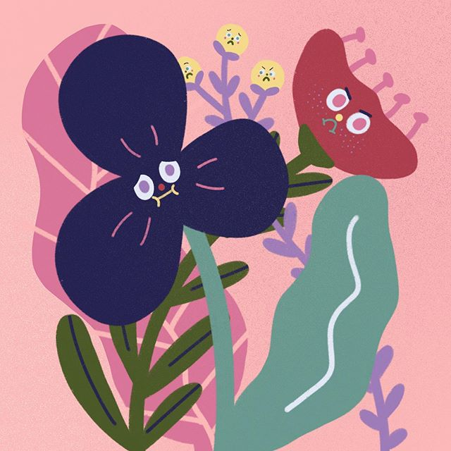 some unhappy flowers #illustration