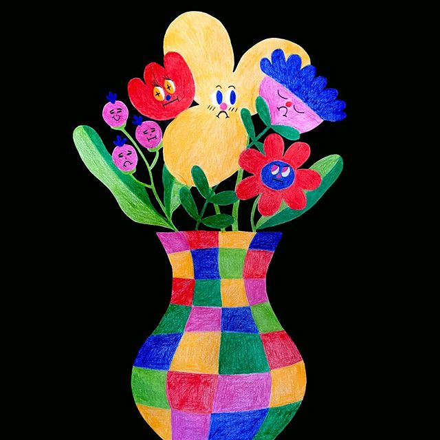 scribble a vase of flowers and call it a day #illustration