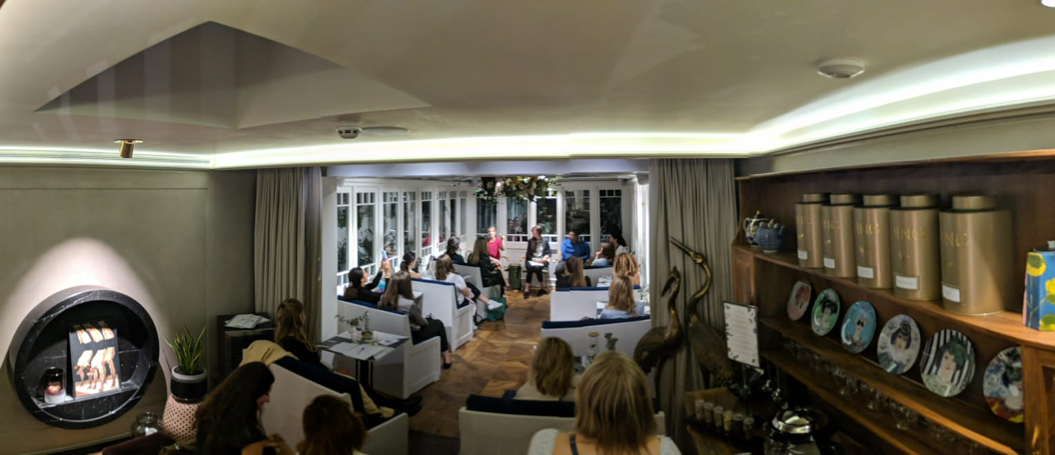 """Our South Kensington Tea Room transformed for the """"What the F is Balance"""" panel discussion"""