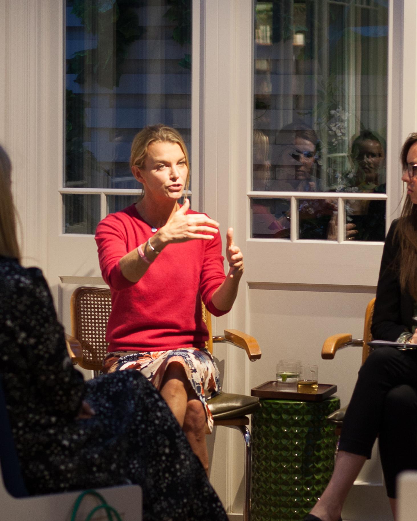 TV presenter, Author and Yoga Teacher Julie Montagu captivating the room