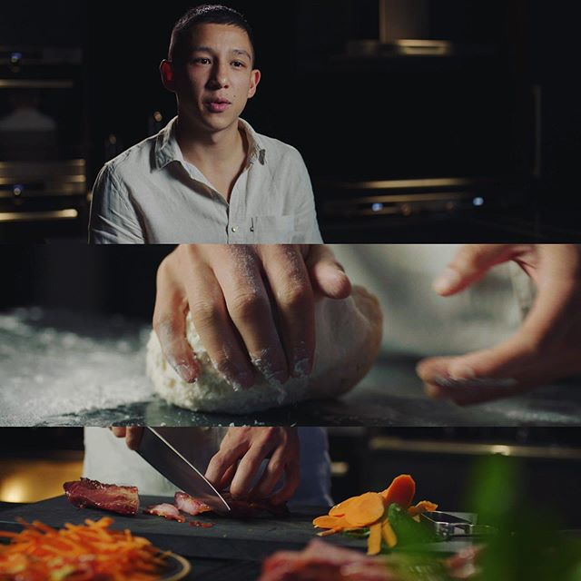"""Some frames from AEG """"Tradition Meets Innovation"""" promo with @brendan_pang doing his take on Bao Buns #food #chef #aeg #baobuns #film #cinematography"""