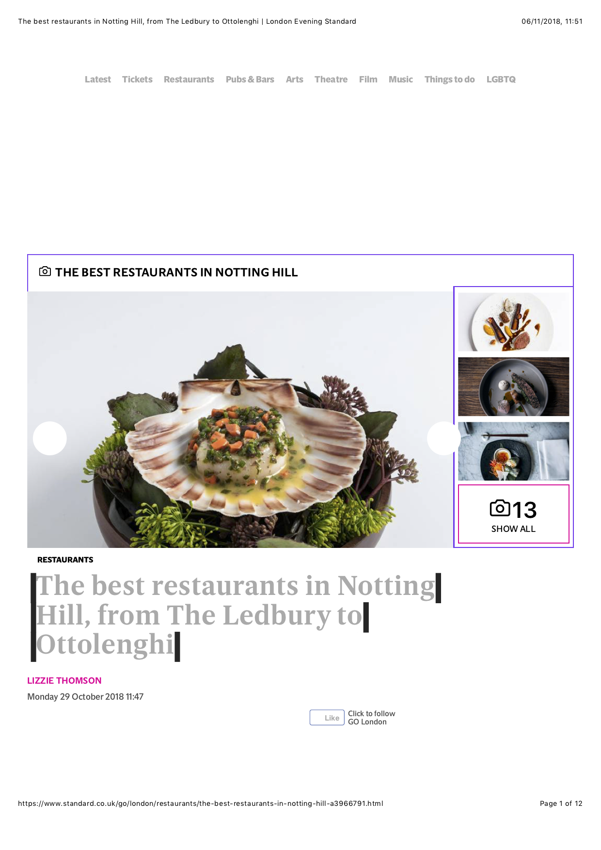 The best restaurants in Notting Hill, from The Ledbury to Ottolenghi | London Evening Standard.png