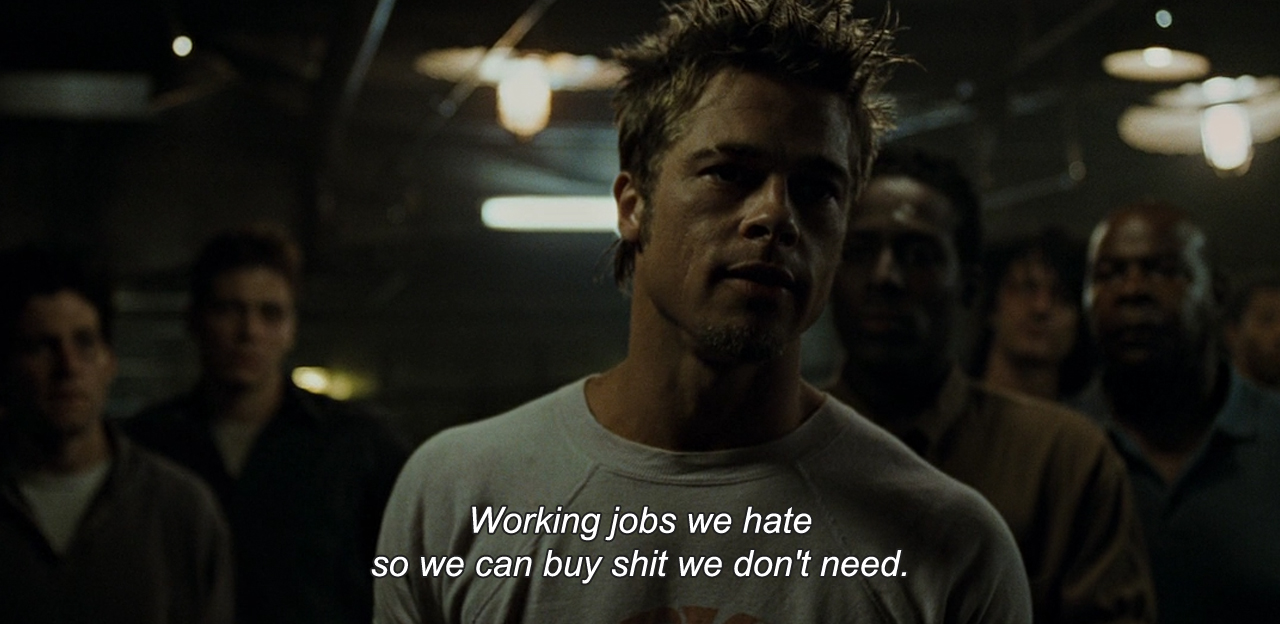 Fight Club   (1999) avec Brad Pitt, Edward Norton, Helena Bonham Carter, Jared Leto…
