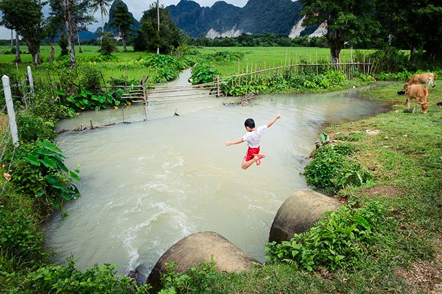 A boy enjoying a swim. Laos, 2018. ° ° ° #Laos #vangvieng #exploretheworld #wanderlust #disocoverearth #nikon #nikonshooters #nikonartists #picoftheday #instatravel #travelstoke #travel #travelgram #traveling #travelphotos #worldtraveler #travelasia #passionpassport #lpfanphoto #lonelyplanet #mylpguide #ourplanetdaily