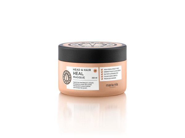 maria nila STOCKHOLM - An anti–inflammatory and hair growth stimulating masque. Piroctone Olamine and natural Aloe Vera extract treat and prevent dandruff and scalp problems. Vitamin E, Apigenin and peptides stimulate hair follicles for increased hair growth. Oleanolic acid prevents hair loss. Apply to newly washed hair and leave in for 5–10 min. Rinse and follow with conditioner. Repeat treatment 1-2 times per week.