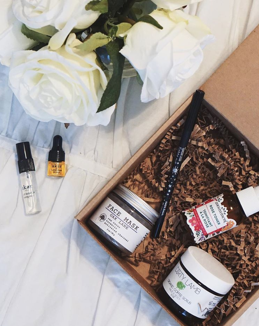 Vegan Cuts Beauty Box - no-bunny was harmed in the making of this box... well except the bags under my eyes want your own? head to @vegancuts for 5 vegan beauty products delivered to you door every month!