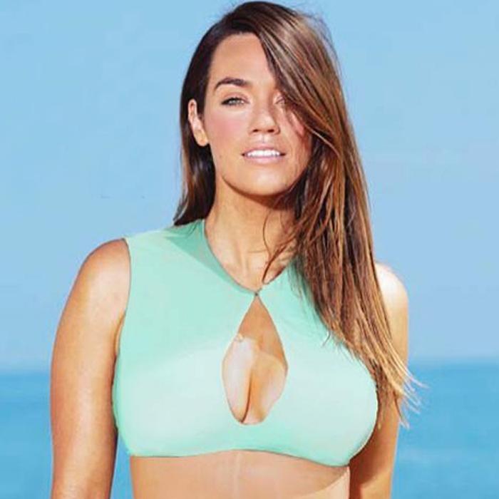 Maia Bikini Top and Moa Bikini Bottom in Spirulina by Koru Swimwear: Laura Wells Signature Curvy Collection.