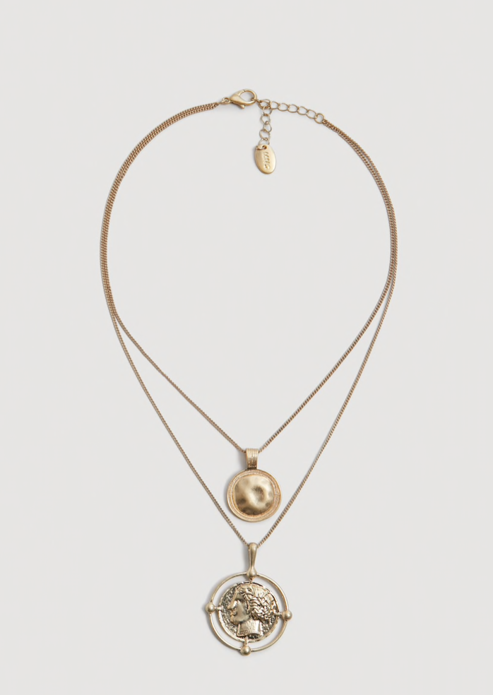the accessories - Coin Pendant Necklace | Mango