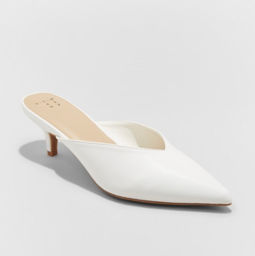 the shoes - Women's Aleksa Low Vamp Kitten Heeled Mules | A New Day™