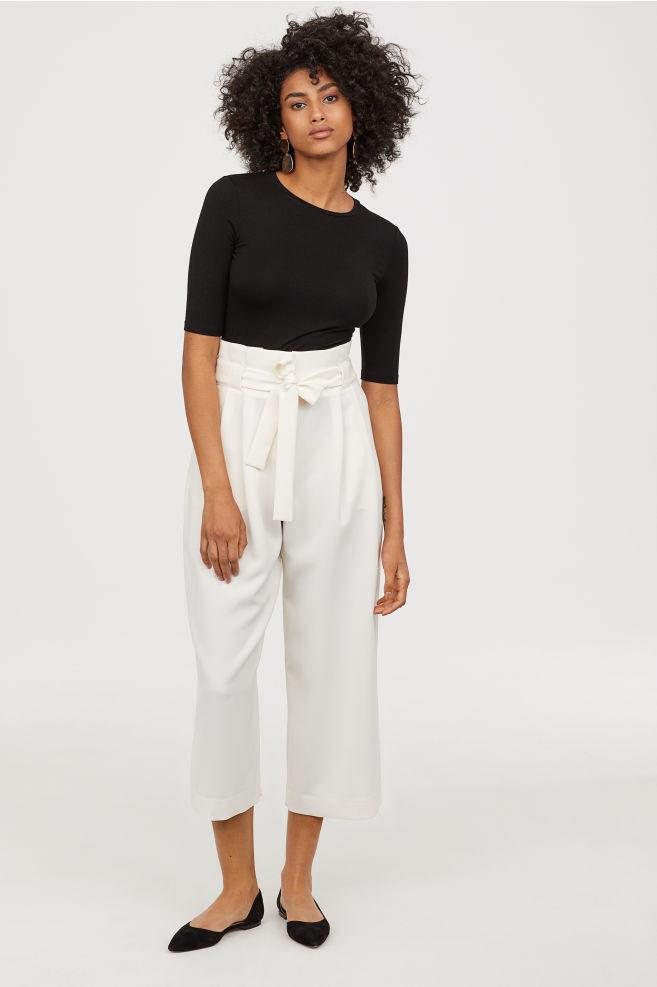 the pants - Wide-cut Pants | H&M