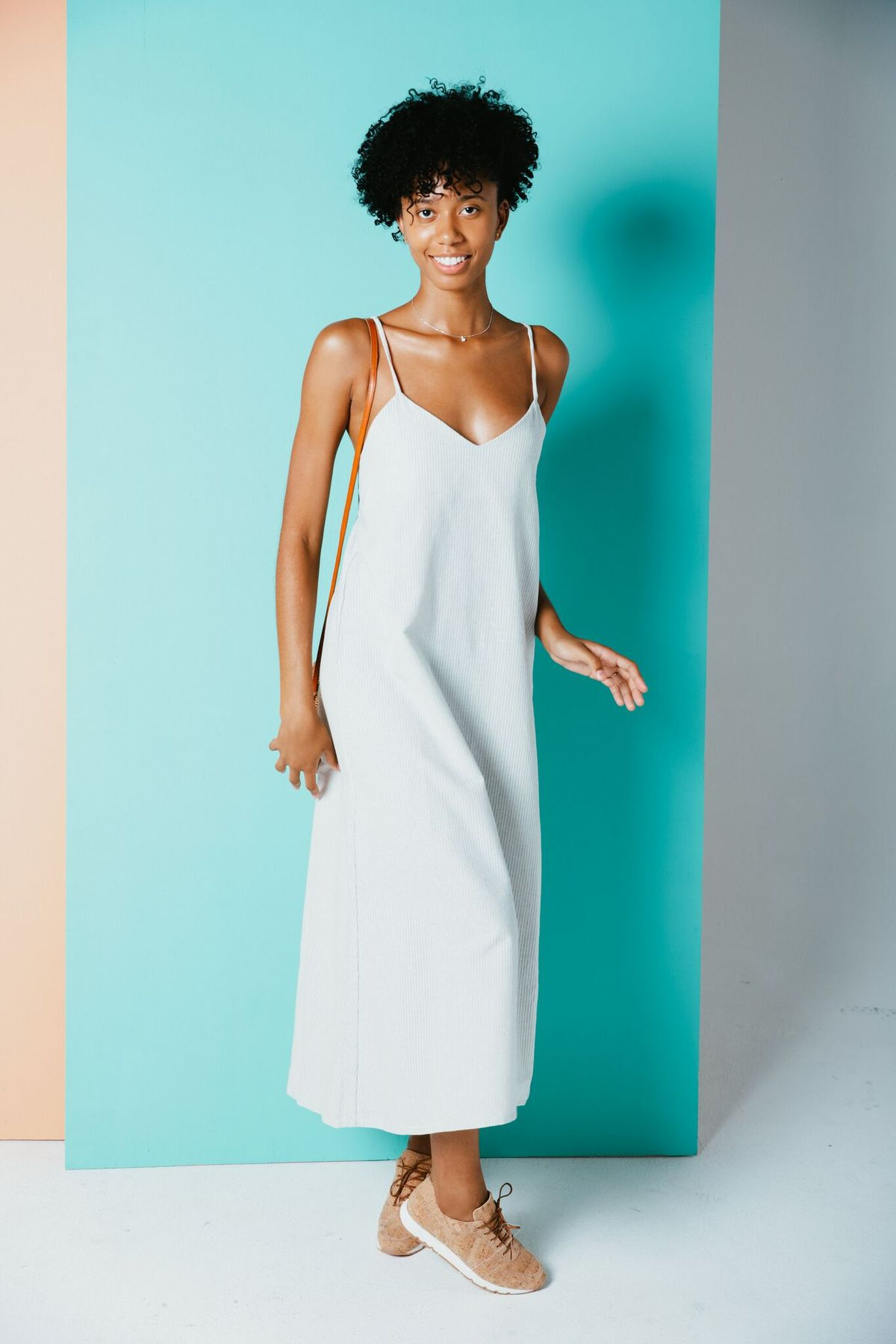 Nilo Dress from Nomad Tribe, made from recycled cotton denim.
