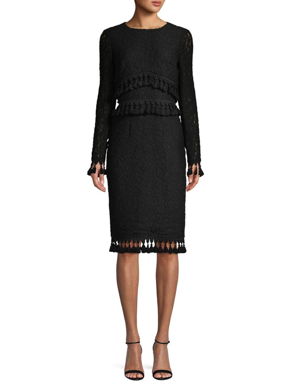 Classic Tassel-Trimmed Dress - $550 | $385 on SALE with code: FRIENDS, Badgley Mischka Platinum.