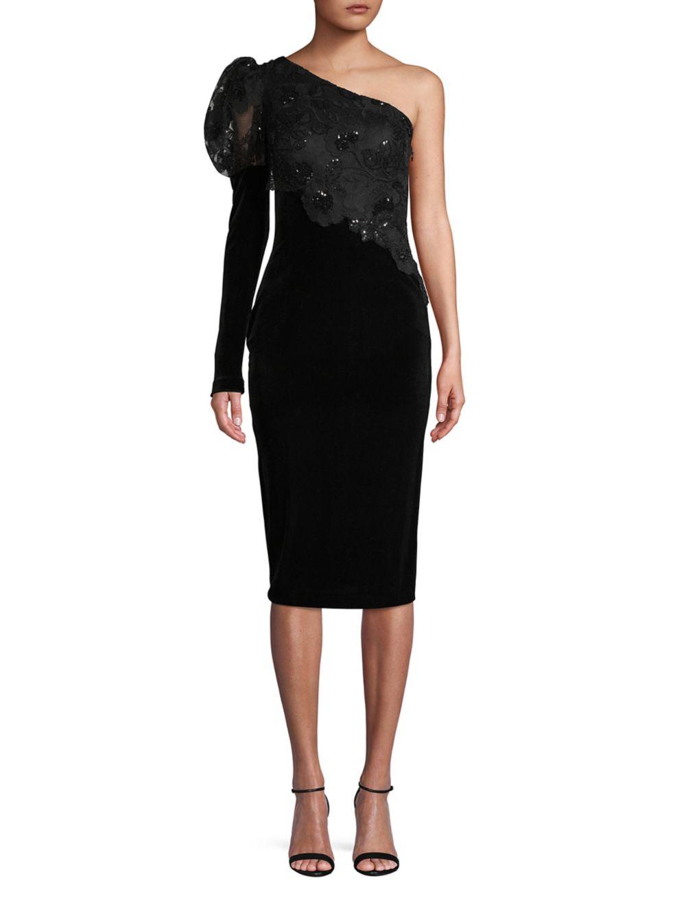 Embellished One-Shoulder Sheath Dress - $470 | $329 on SALE with code: FRIENDS, Nicole Bakti.