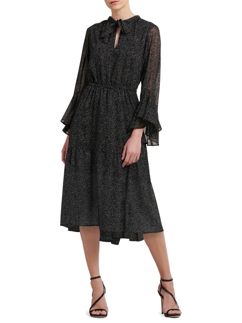 Self-Tie Bell-Sleeve Dress - $175 | $122.50 on sale with code: FRIENDS, Donna Karan.