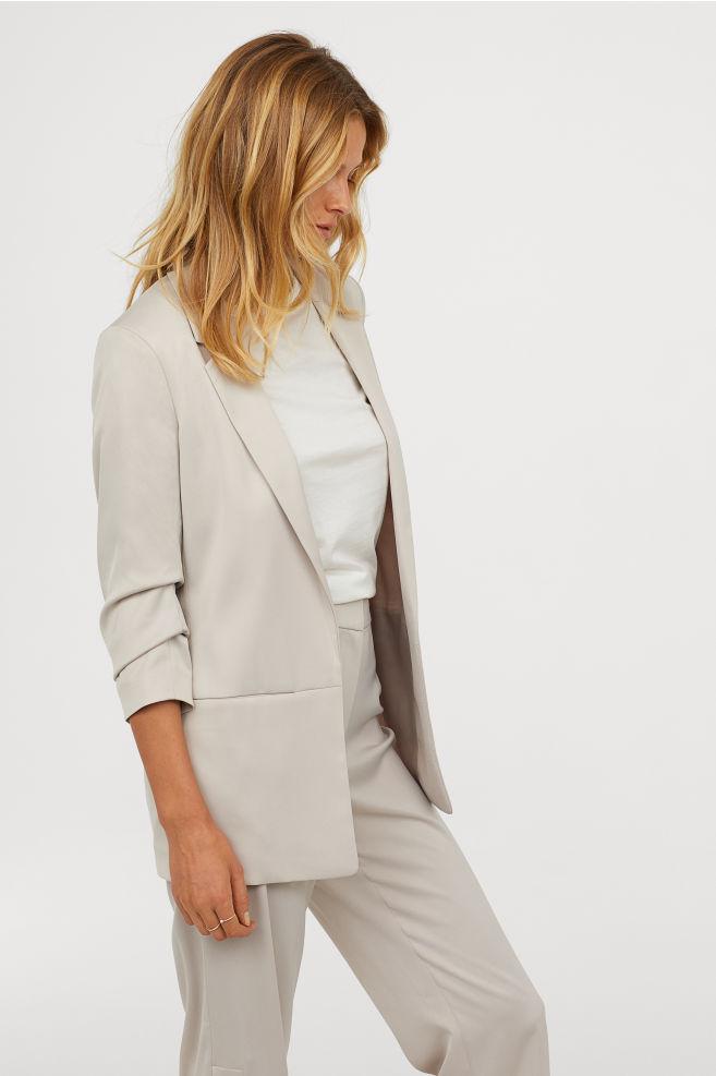 Gathered Sleeve Blazer - $49.99 | H&M