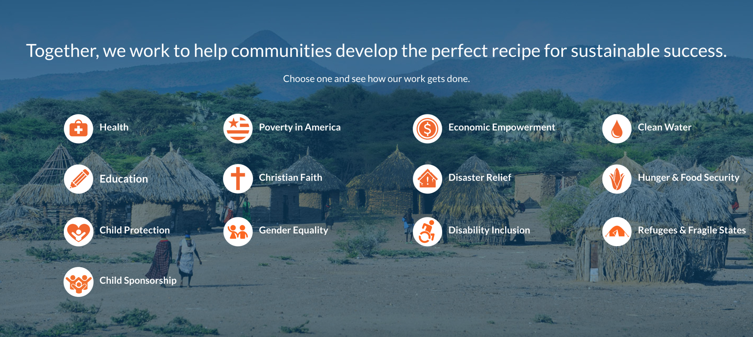 Find out more about how World Vision helps strengthen communities  here .