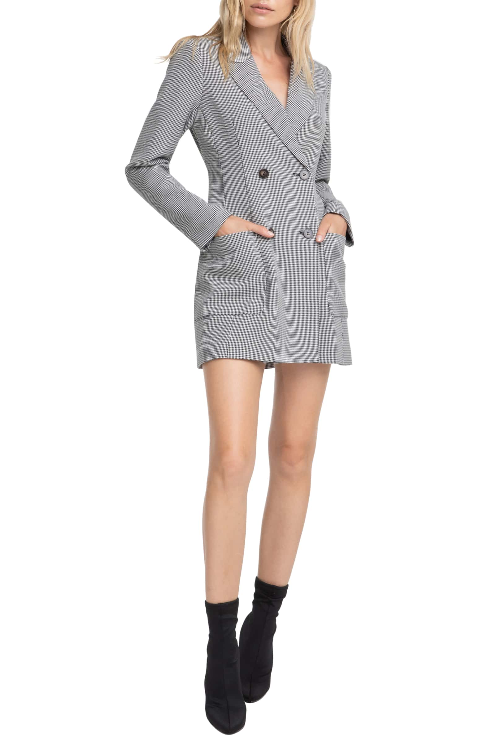 Houndstooth Blazer Dress - $148