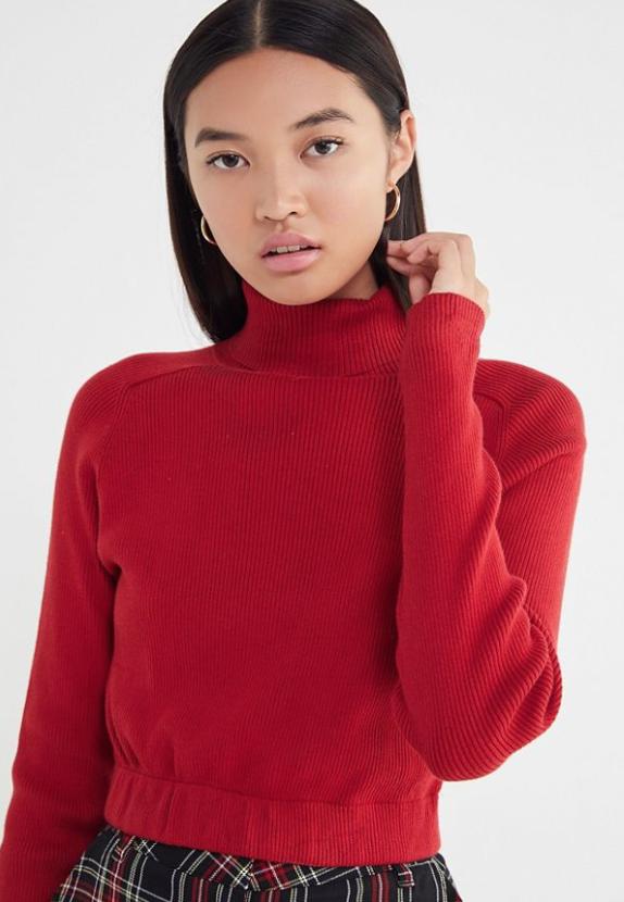 Urban Renewal Recycled Cropped Turtleneck Sweater - $49.99