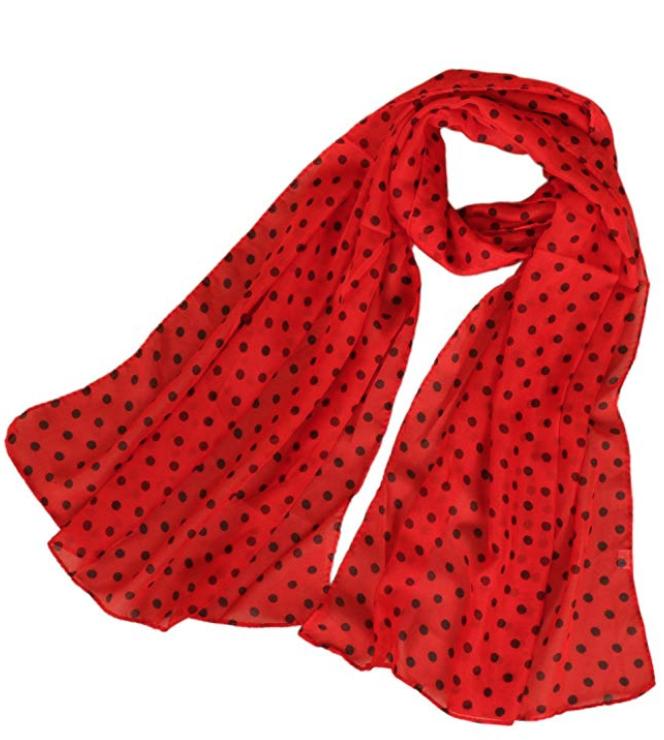 Red Polka Dot Scarf - $8.99